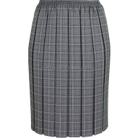 Mid Grey Fully Elasticated Box Pleated Skirt