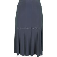 Grey Plain Lined Panelled Skirt