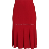 Red Plain Lined Panelled Skirt