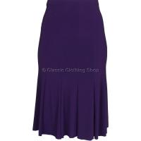 Plum Plain Lined Panelled Skirt