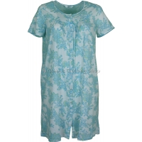 Marlon Turquoise Floral Button Through Nightdress