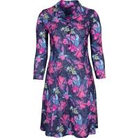 Pink Rose Long Sleeve Tie Back Dress