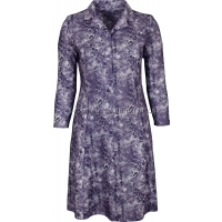 Pale Lilac Paisley Long Sleeve Tie Back Dress