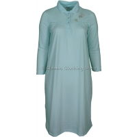Aqua Green Fleurette Long Sleeve Nightdress