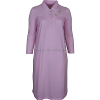 Pink Fleurette Long Sleeve Nightdress