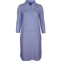 Blue Fleurette Long Sleeve Nightdress