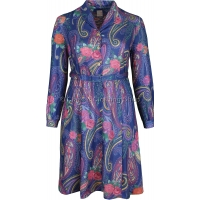Pink Floral/Paisley Long Sleeve Dress