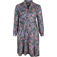 Pink/Lilac Paisley Long Sleeve Dress