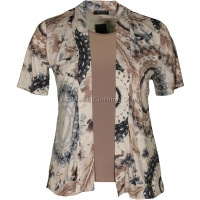 Taupe Abstract Twin-Set Look Slinky Top