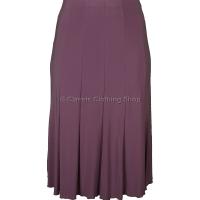 Pink Plain Lined Panelled Skirt
