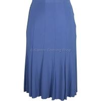 Blue Plain Lined Panelled Skirt