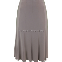Taupe Plain Lined Panelled Skirt