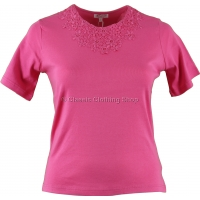 Pink Plain T-Shirt Top