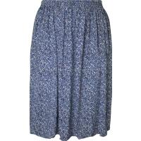 Blue Floret Printed Skirt