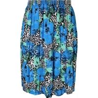 Azure Blue Floral Printed Skirt