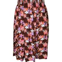 Brown Floral Printed Skirt