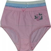 Plain Cotton Motif Briefs