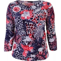 Red Rose Printed Slinky Top