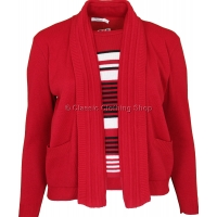 Red Combination Twin Set Look Jumper