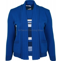 Royal Blue Combination Twin Set Look Jumper