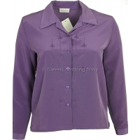 Mulberry Embroidered Long Sleeve Blouse