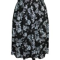 Black & White Floral Printed Skirt