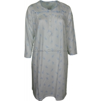 Blue Floral Long Sleeve Nightdress