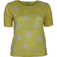 Lemon Floral Short Sleeve Jumper