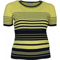 Lemon Stripe Short Sleeve Jumper