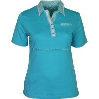 Aqua Collar T-Shirt Top