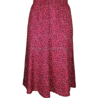 Red Abstract Printed Panelled Skirt