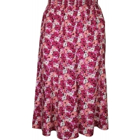 Pink Floral Printed Panelled Skirt
