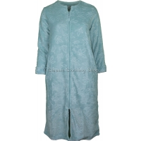 Plush Sage Super Soft Zip Through Housecoat / Dressing Gown