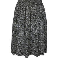 Black Floret Printed Skirt