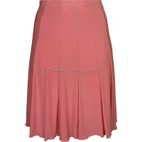 Pink Plain Lined Panelled Skirt