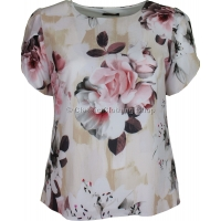 Cream Floral Petal Sleeve Over Top