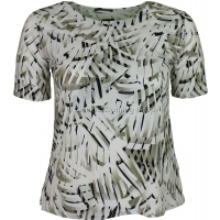 Sage Abstract Printed Slinky Top