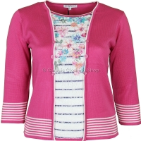 Pink Combo Twinset Look Jumper