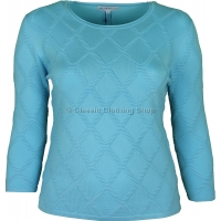 Blue Diamond Rib Jumper