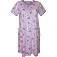 Pink Summer Bouquet Short Sleeve Nightdress