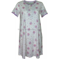 Ivory Summer Bouquet Short Sleeve Nightdress