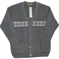 Charcoal Grey V Neck Twin Pocket Cardigan
