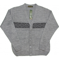 Light Grey V Neck Twin Pocket Cardigan