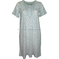 Blue Everyday Floral Short Sleeve Nightdress