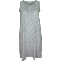 Pink Everyday Floral Sleeveless Nightdress