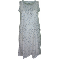 Blue Everyday Floral Sleeveless Nightdress