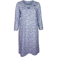 Navy Floral Long Sleeve Nightdress