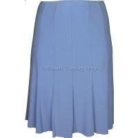 Sky Blue Plain Lined Panelled Skirt