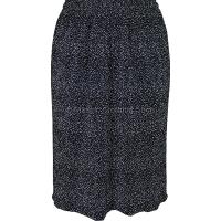 Black Spots Gathered Plisse Skirt