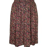 Rose Pink Floral Printed Skirt